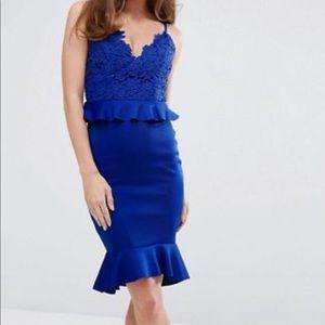 Cobalt blue cocktail dress